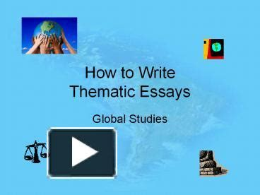 Global history thematic essay